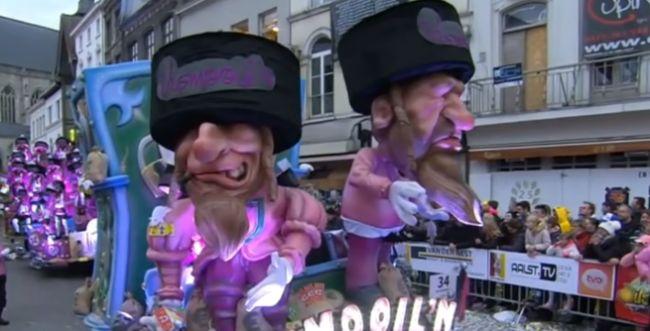 ראש העירייה בבלגיה מגן על המצעד האנטישמי בקרנבל