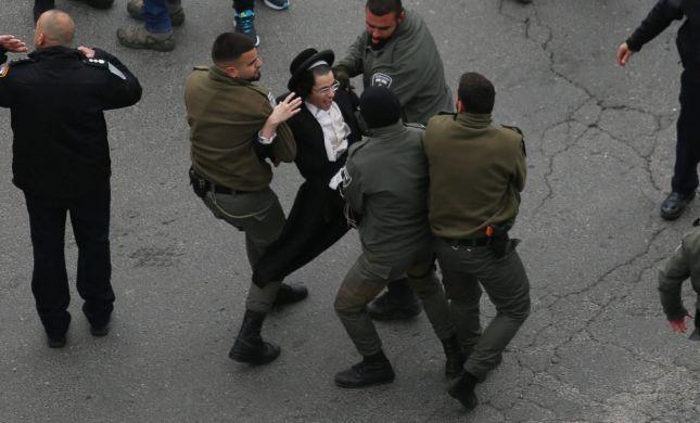 עימותים, חסימות וקללות: 30 נעצרו במחאת החרדים