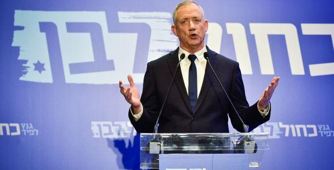 """גנץ: """"נשב רק עם מי שמכיר בישראל כמדינה יהודית"""""""
