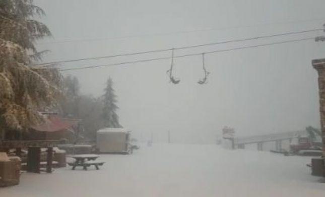 החורף שוב פה: גשם, סופות רעמים ואפילו שלג