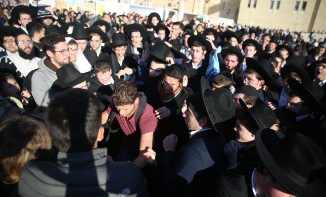 עימותים אלימים בתפילת ראש חודש בכותל המערבי