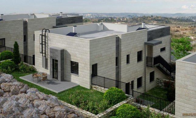 פרוייקט הבנייה בכפר תפוח: בתים דו משפחתיים ענקיים