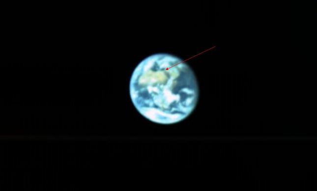 """צפו: כך נראית ישראל ממרחק 131 אלף ק""""מ"""