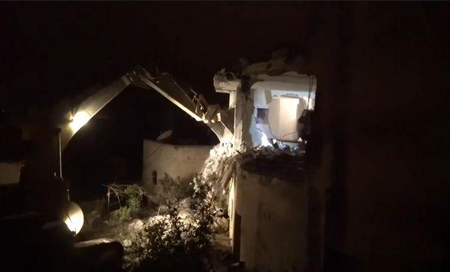 תיעוד: הריסת בית המחבל שרצח את עמיעד איש-רן