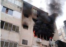 השריפה בבית בחיפה: ארבעה בני אדם פצועים קשה