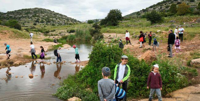 יום חג: 100 אלף איש בשמורות הטבע והגנים