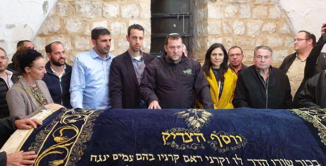 חברי הכנסת החדשים ביקרו הלילה בקבר יוסף