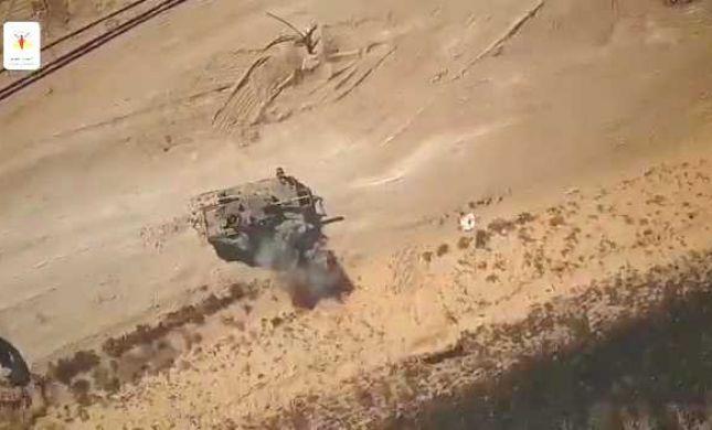 הג'יהאד האיסלאמי מפרסם: כך פגענו מהאוויר בטנק