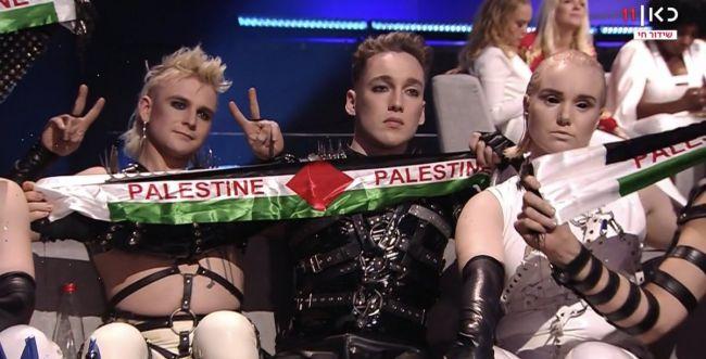 בושה;פרובוקציה באירוויזיון: הנפת דגלי פלסטין