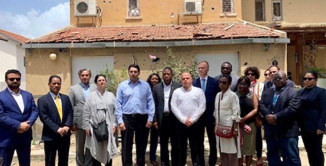 """בעקבות הרקטות: משלחת האו""""ם ביקרה באשקלון"""