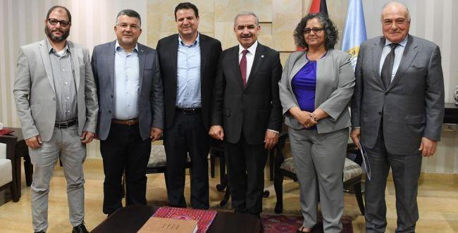 """חד""""ש נפגשו עם ראש הממשלה הפלסטיני ברמאללה"""