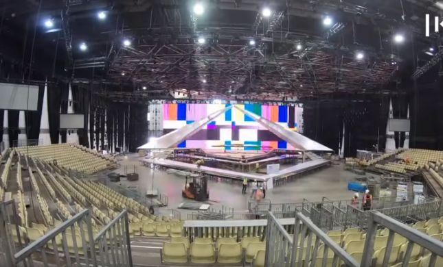צפו: 21 ימים של הקמת בימת האירוויזיון בדקה
