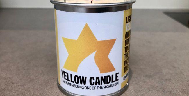 """פרוייקט בבריטניה: """"נר צהוב"""" לזכר קרבנות השואה"""
