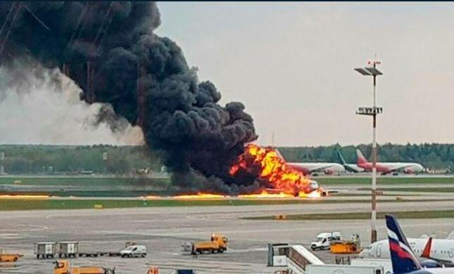 אסון ברוסיה: המטוס התרסק, 41 נוסעים נשרפו