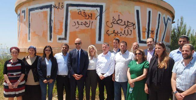בשל פיזור הכנסת; העצרת בצפון השומרון  - נדחתה