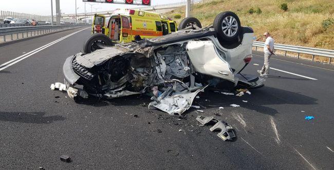 אסון בדרך ממירון: הרכב התהפך- תינוק נפצע קשה