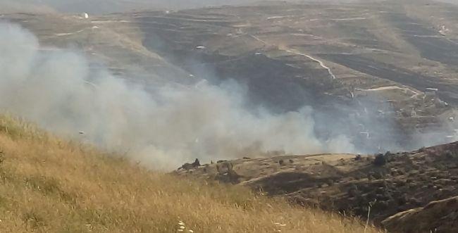 טרור ההצתות: שריפת ענק ליד היישוב יצהר