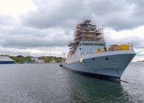 צפו: חיל הים חנך את ״אח״י מגן״- ספינת סער חדשנית