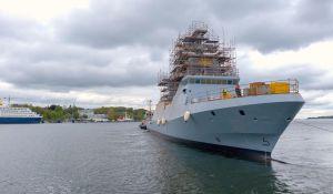חדשות, חדשות צבא ובטחון, מבזקים צפו: חיל הים חנך את ״אח״י מגן״- ספינת סער חדשנית
