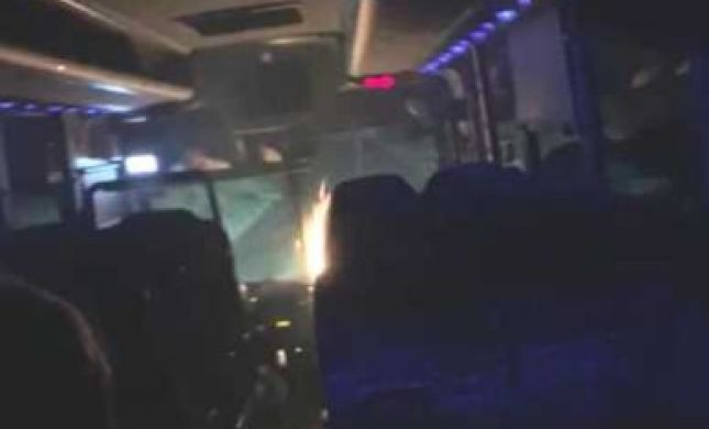 בקבוק תבערה על האוטבוס; רגעי החרדה של הבנות. צפו