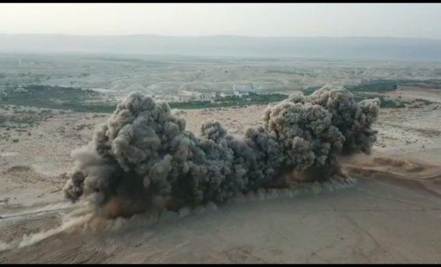 900 מוקשים ב-3 שניות: כך פוצץ שדה מוקשים בבקעה
