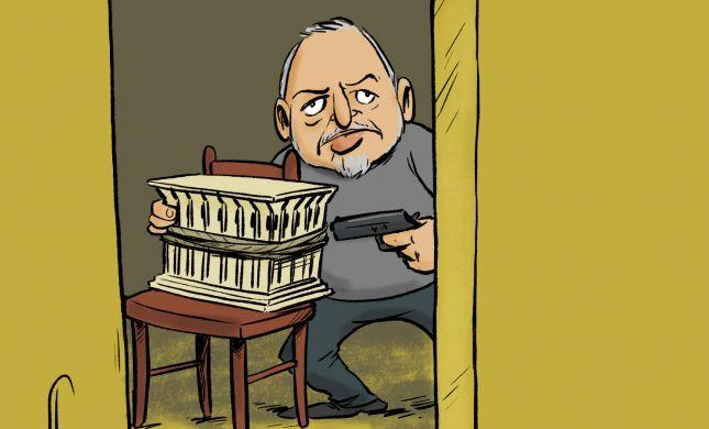 קריקטורה: ליברמן כופה על ישראל בחירות חוזרות