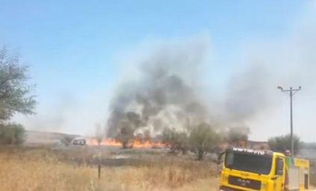 שבת מתוחה בדרום: 14 שריפות פרצו מבלוני תבערה