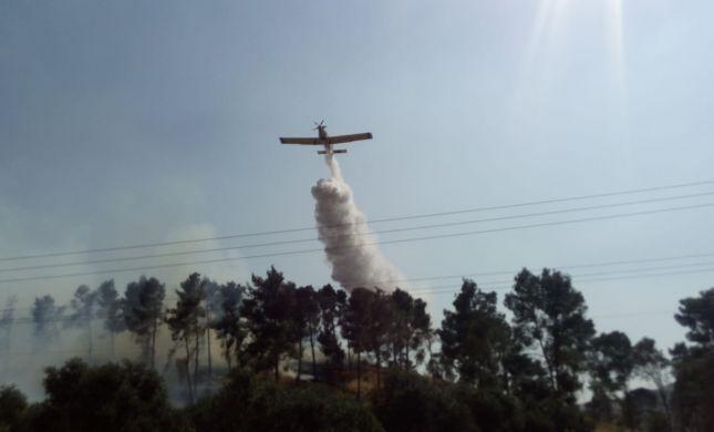שריפות בשומרון: מתנדבים ומסוקים נאבקים באש