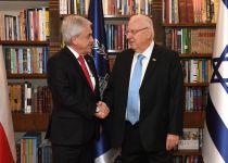 """ריבלין לנשיא צ'ילה: """"עלינו להתחיל לשתף פעולה"""""""