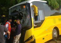 אוטובוס הסעות ירד מהכביש; 35 ילדים נפצעו