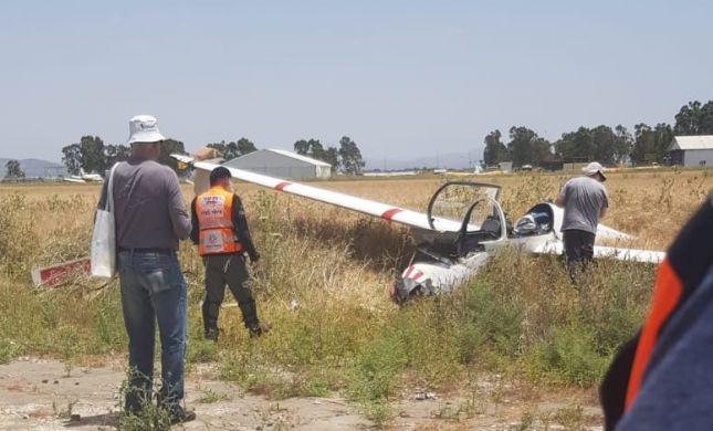 הרוג ופצוע בהתרסקות מטוס במנחת מגידו