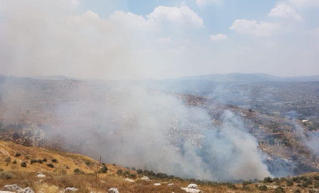 כובתה השריפה ביצהר: התושבים שבים לבתיהם