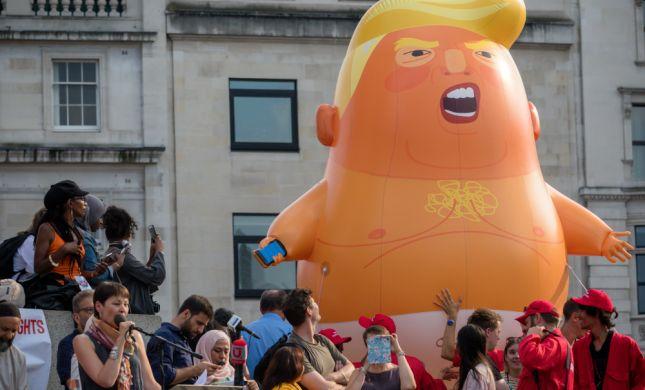 בריטניה: הפגנת ענק נגד ביקורו של טראמפ במדינה