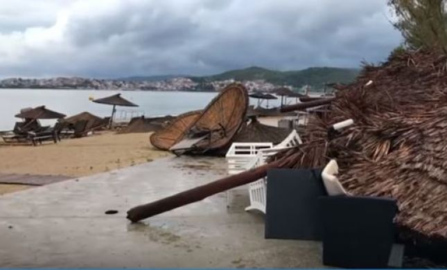 סופה קיצונית ביוון: שישה תיירים נהרגו, מאות נפצעו