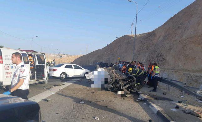 שני הרוגים בתאונת דרכים קשה ליד מצפה יריחו