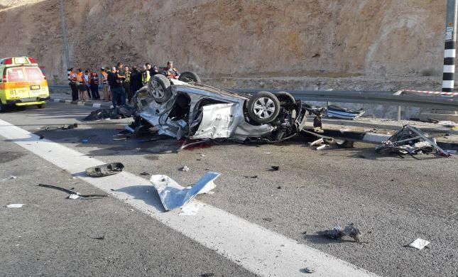 ההרוגים בתאונה: עמית בר לב והלל ללום מגוש עציון