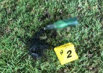 צפו: בקבוקי תבערה הושלכו הבוקר לעבר תחנת משטרה