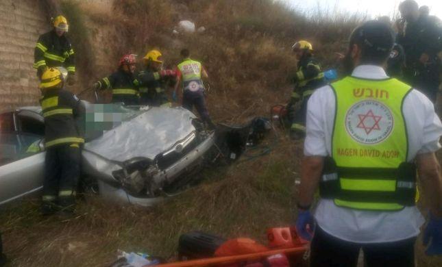 תאונה קשה: רכב ובו שתי נשים התדרדר לתהום