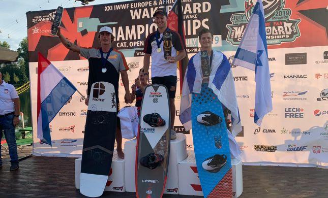 גיא פירר זכה במדליית ארד באליפות אירופה בסקי מים
