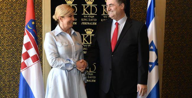 """כץ לנשיאת קרואטיה: """"על העולם להתאחד מול איראן"""""""