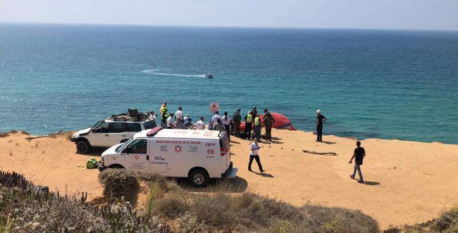 ארסוף: מצנח רחיפה התרסק, בן 60 נפצע אנוש
