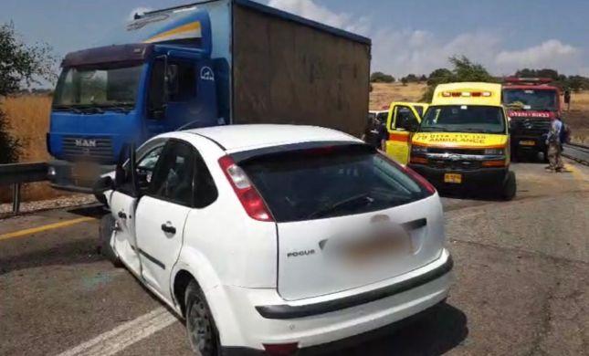 גבר ואשה נפצעו בתאונה בצומת בית המכס בגולן