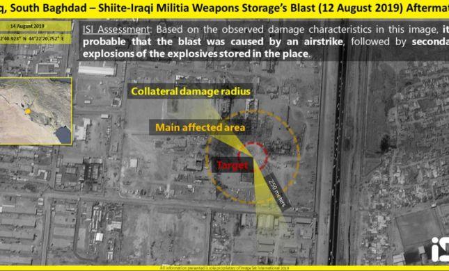 דיווח בעיראק: פיצוץ נשמע בבסיס של מיליציה איראנית