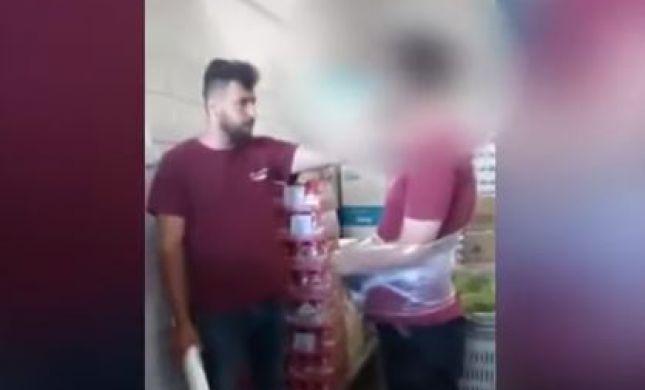 תיעוד מזעזע: עובד ערבי מתעלל בעובד יהודי. צפו