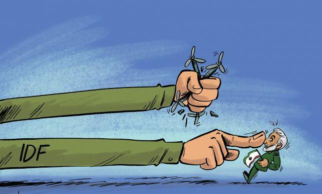 קריקטורה: ישראל תוקפת מטרות איראניות בסוריה