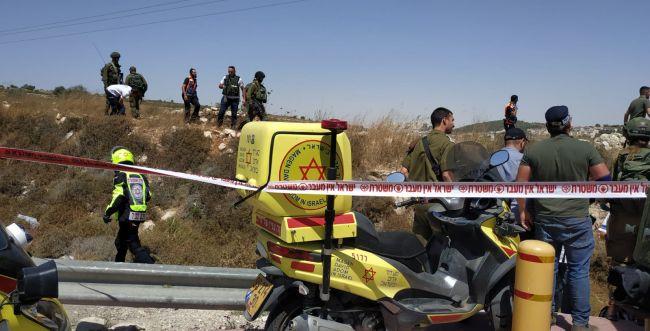 פיגוע דריסה בכניסה ליישוב אלעזר, 2 פצועים במקום