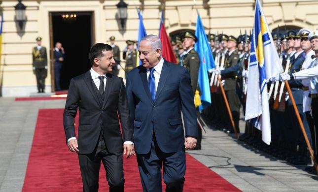 צפו: נתניהו מתקבל בארמון הנשיאות באוקראינה