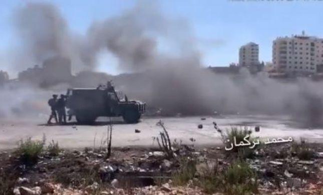 """דיווח: עימותים בין צה""""ל לפלסטינים בכניסה לביר זית"""