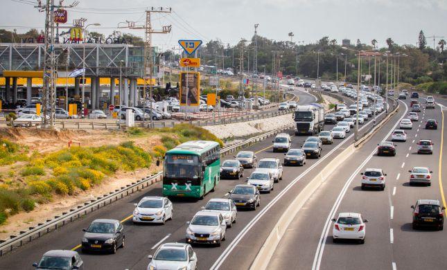 פקקים מצפון לדרום: מפת עומסי התנועה בכבישים