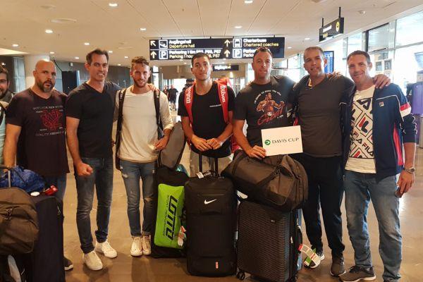 נבחרת הדייויס נחתה בשבדיה לקראת המפגש